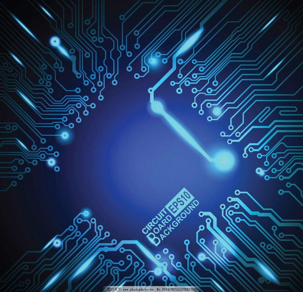 电路板 科技背景 集成板 线路排版 工业生产 现代科技图片