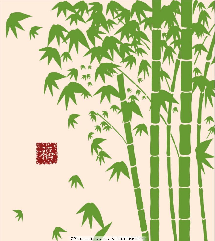 硅藻泥卧室竹子图案