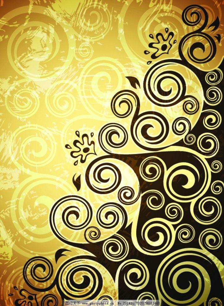 花纹背景 花纹图案 欧式花纹