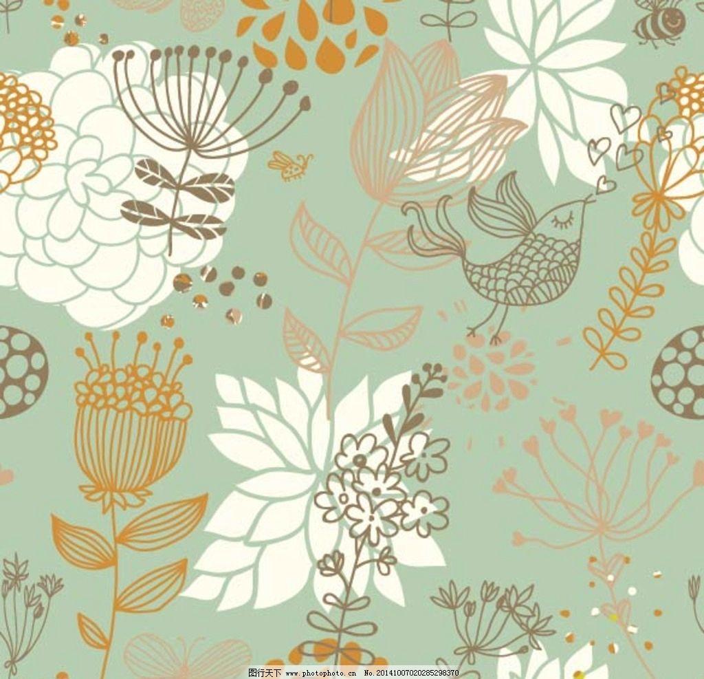 手绘花卉 手绘花朵 手绘鲜花 鲜花背景 花卉插画 布纹 鲜花花纹