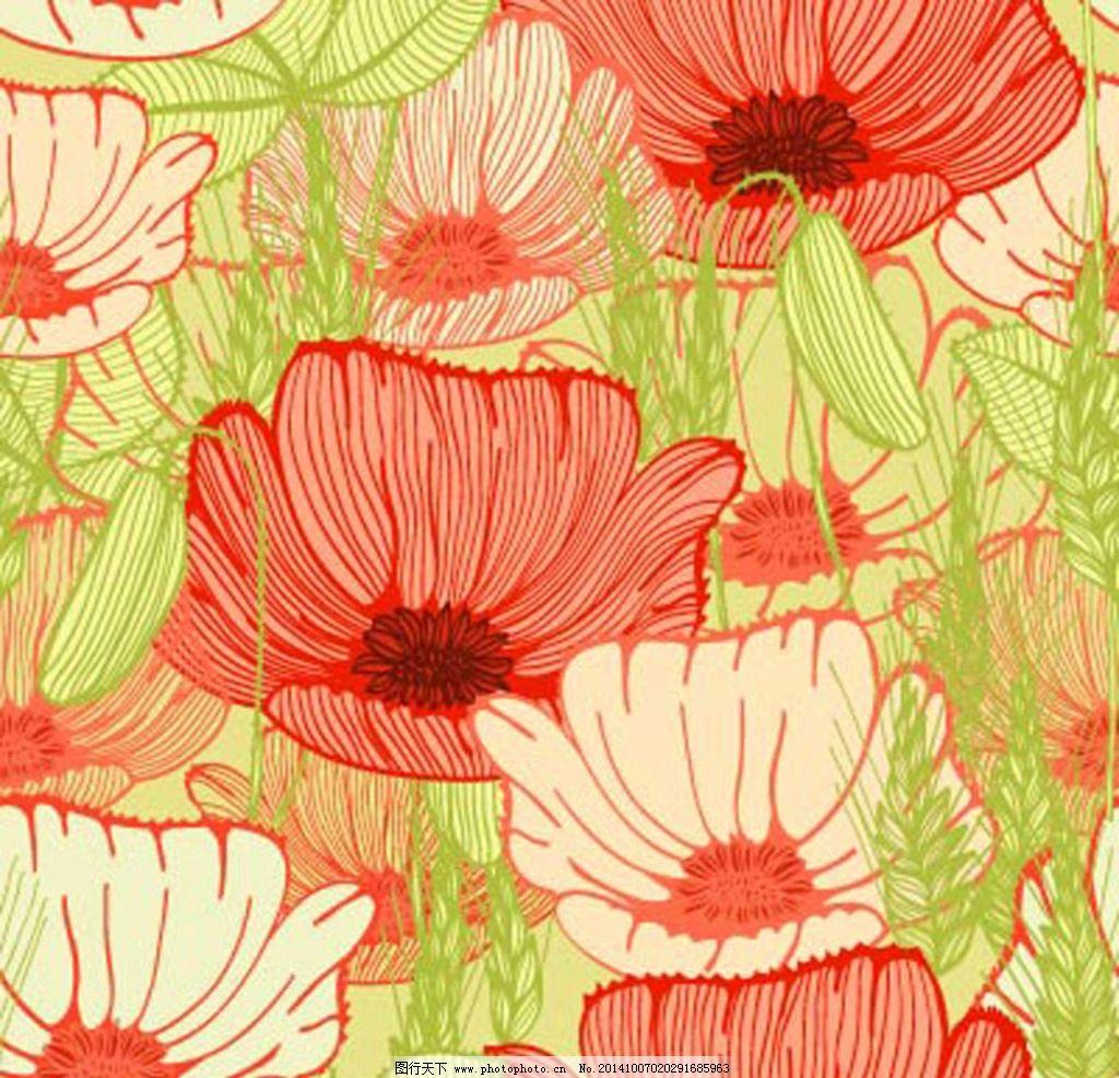 花卉 鲜花 花朵 花瓣 植物 绿植 鲜花图案 手绘 漫画 彩绘 水彩画