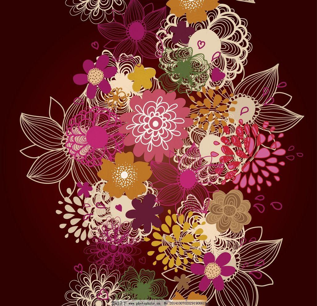 手绘花卉图片_背景底纹