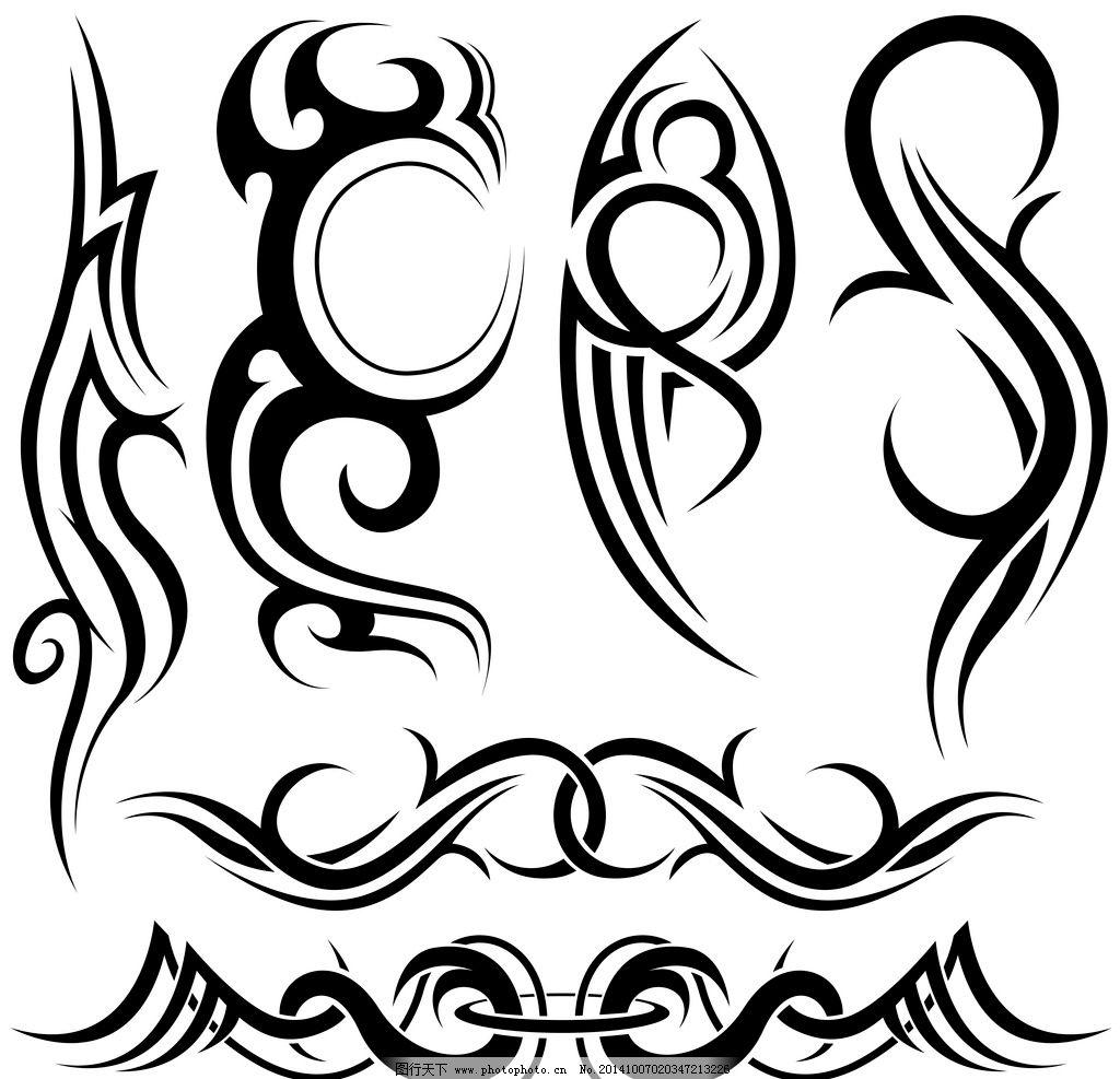 纹身 手绘 图腾 花纹 纹样 花边 翅膀 纹身图案  设计 底纹边框 花边