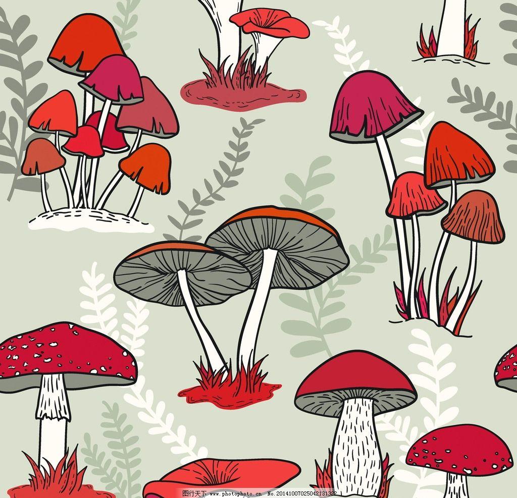 国画蘑菇的画法步骤