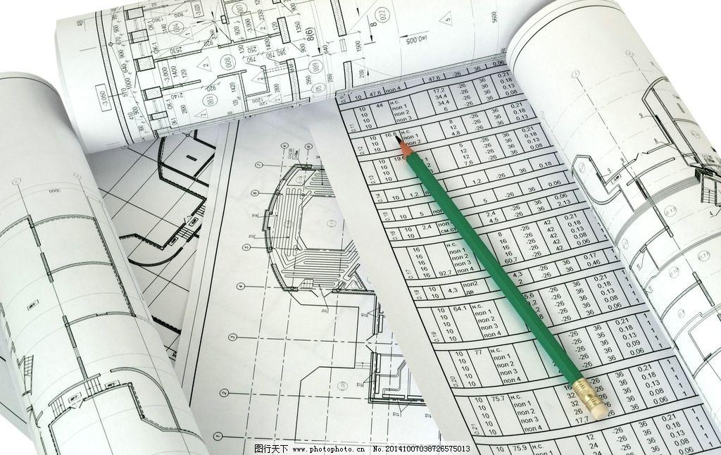 建筑图纸 平面设计图 铅笔 工程图纸 手绘 施工图 美术绘画 摄影 文化