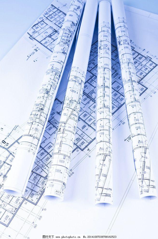 建筑图纸 平面设计图 工程图纸 手绘 施工图 美术绘画 摄影