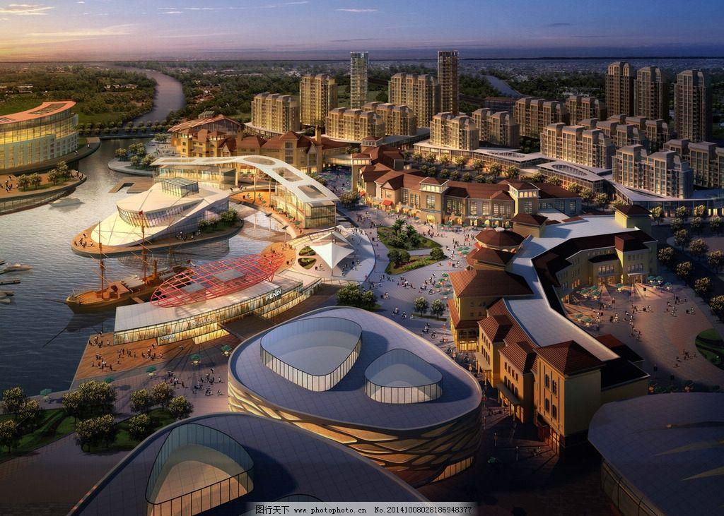 城市建筑环境效果图片
