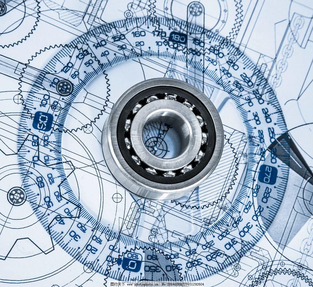 工程图纸 测量工具 平面设计图 轴承 机械制图 设计图 绘制 设计 环境