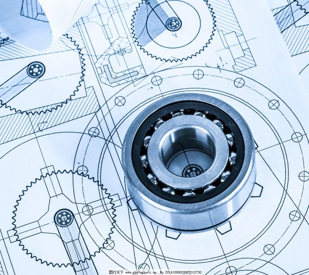 工程图纸 平面设计图 轴承 机械制图 设计图 绘制 设计 环境设计 机械