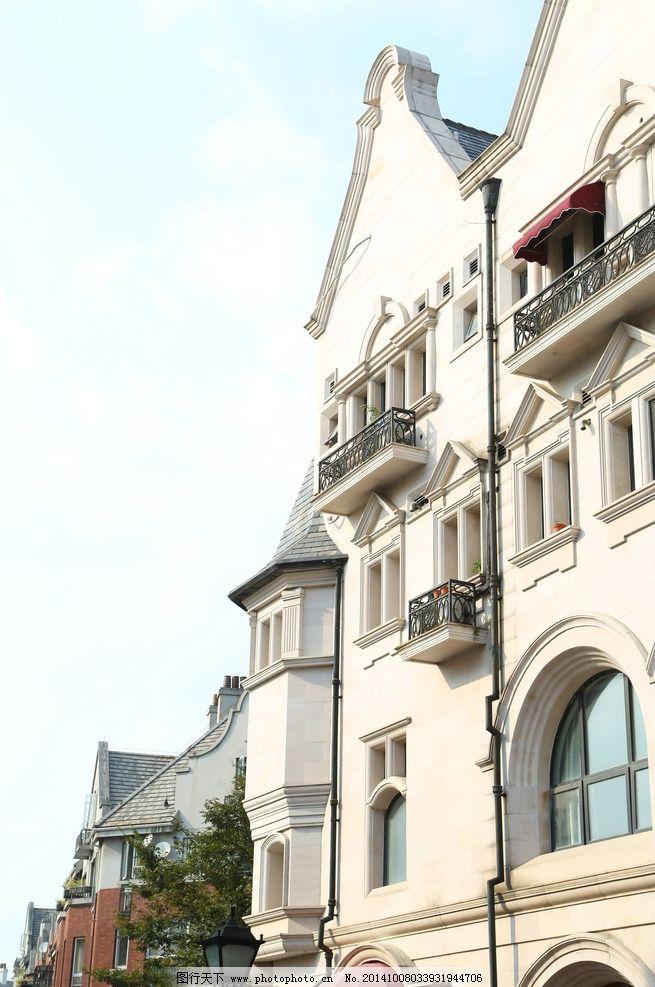 欧式房子 建筑 风景 窗户