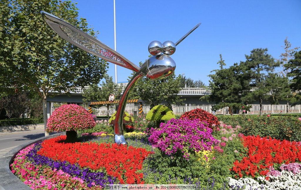 花草 植物 园林绿化 园林景观 绿化景观 装饰画 绿草 雕塑 花架花坛