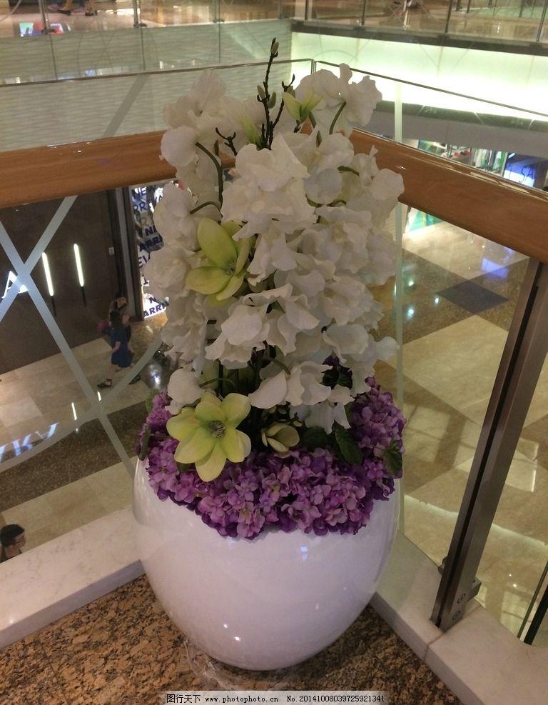 商场花卉小品 商业设计 装饰 花瓶 摄影 建筑园林