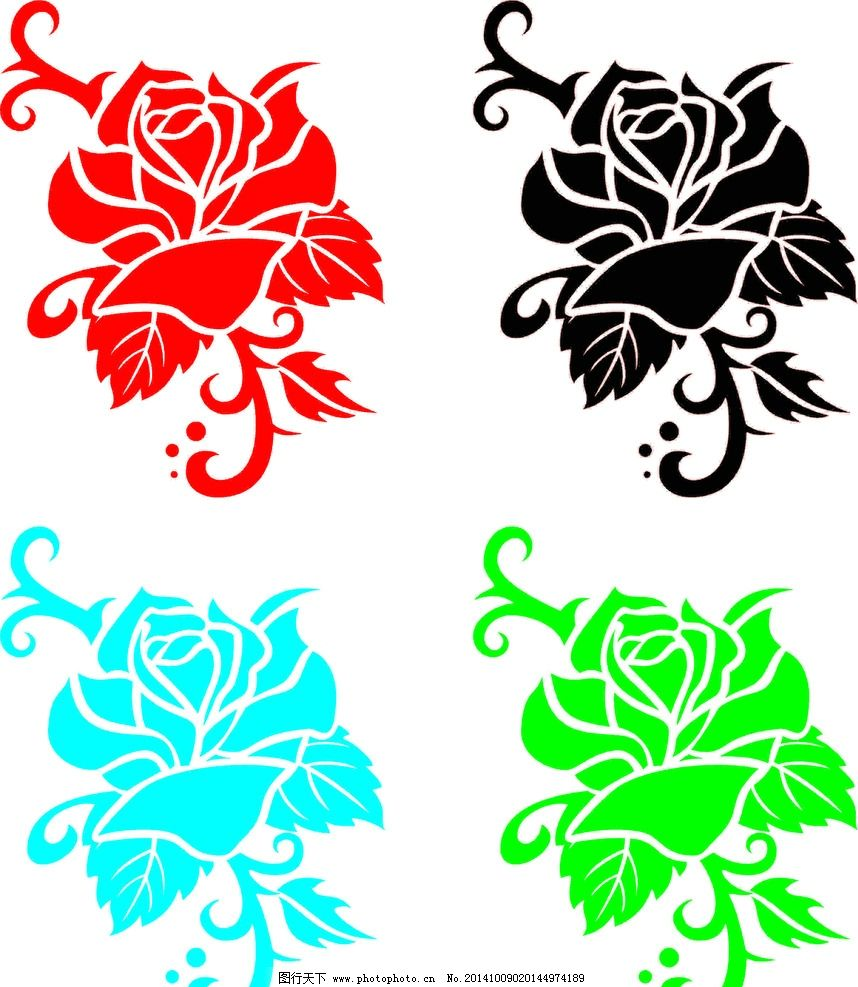 纹身 玫瑰 矢量 图标 图腾 标志 素材 纹身 设计 标志图标 其他图标