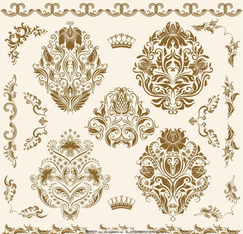 欧式花纹 欧式 花纹 欧式背景 无缝 欧式底纹 金色 欧式古典 欧式古典