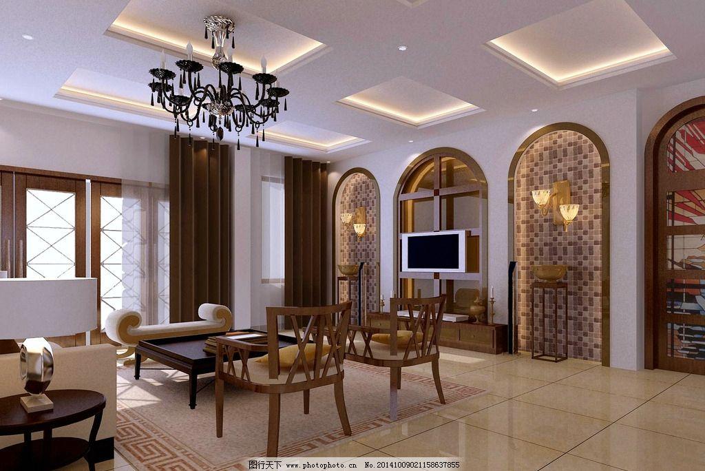 客厅效果图 欧式客厅效果 客厅电视背景 电视背景墙 家装效果图
