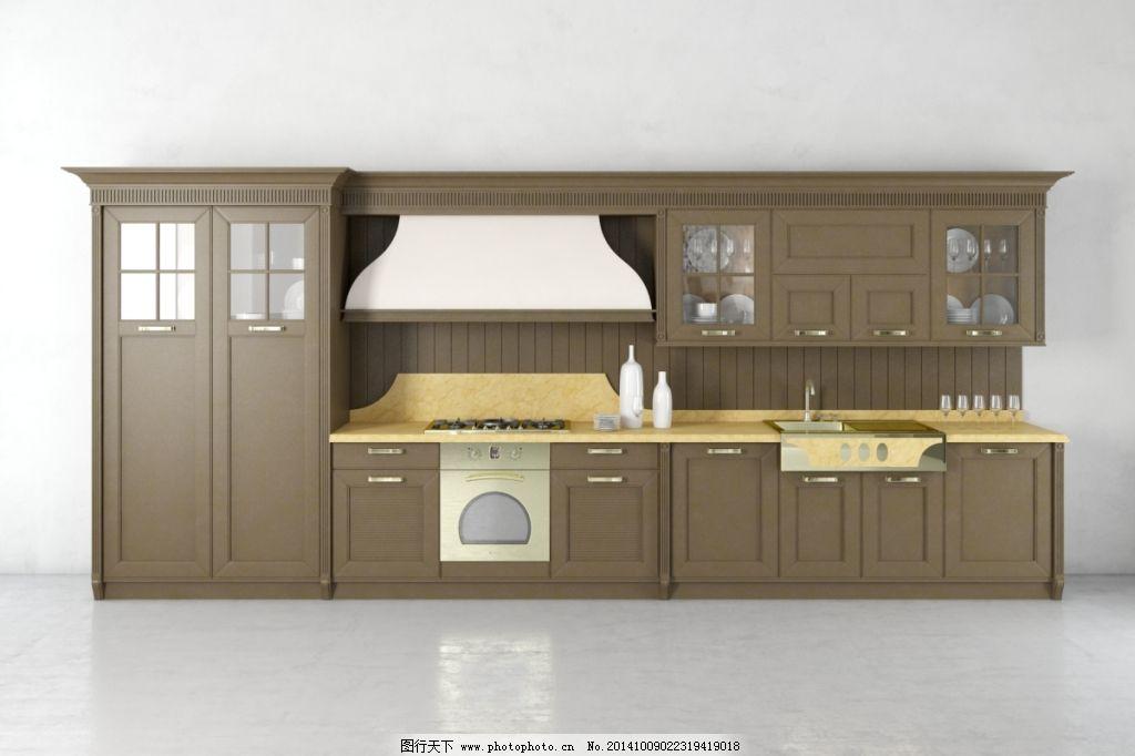 欧式橱柜 欧式橱柜免费下载 模型 时尚 厨卫模型