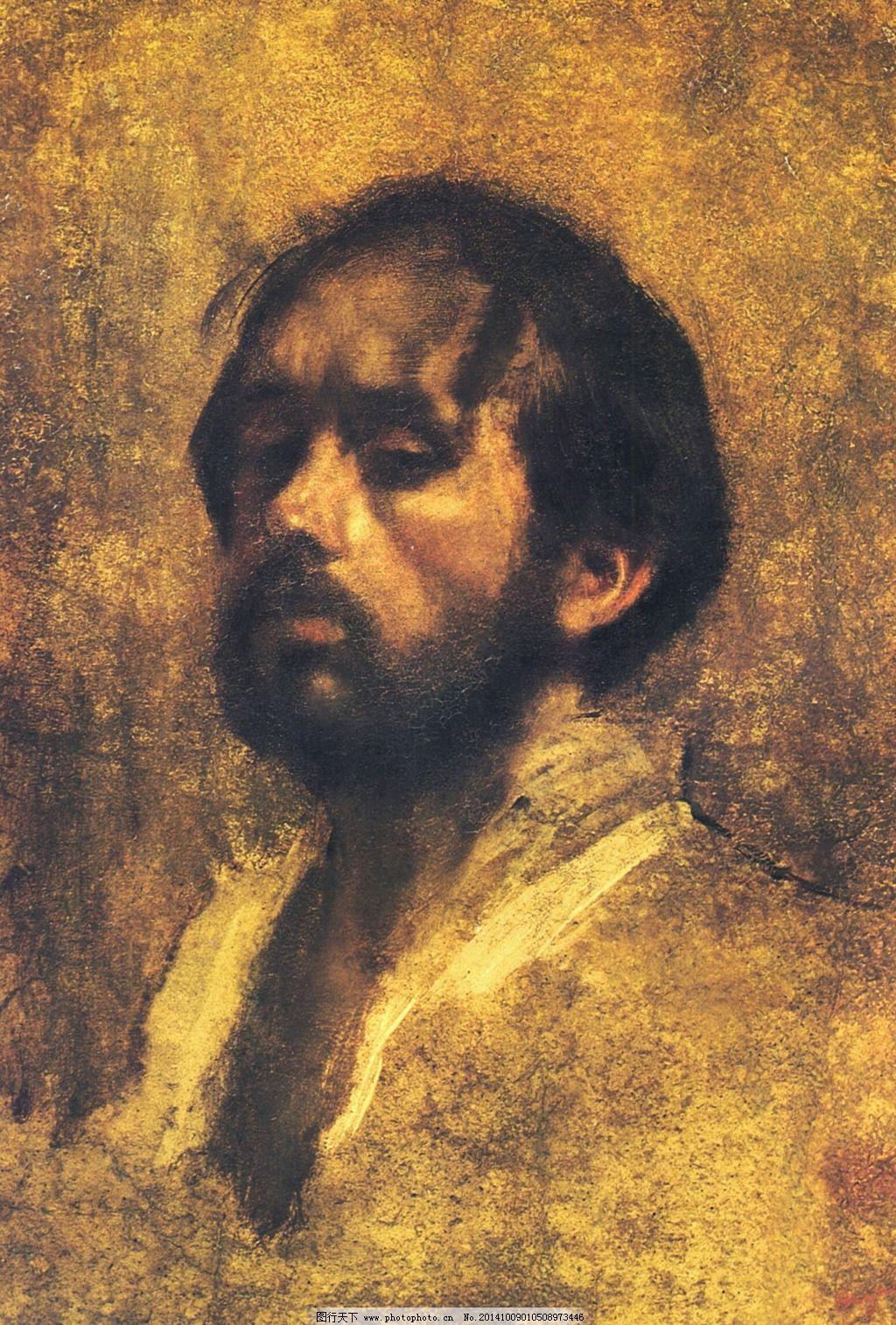 莫奈男人表情油画