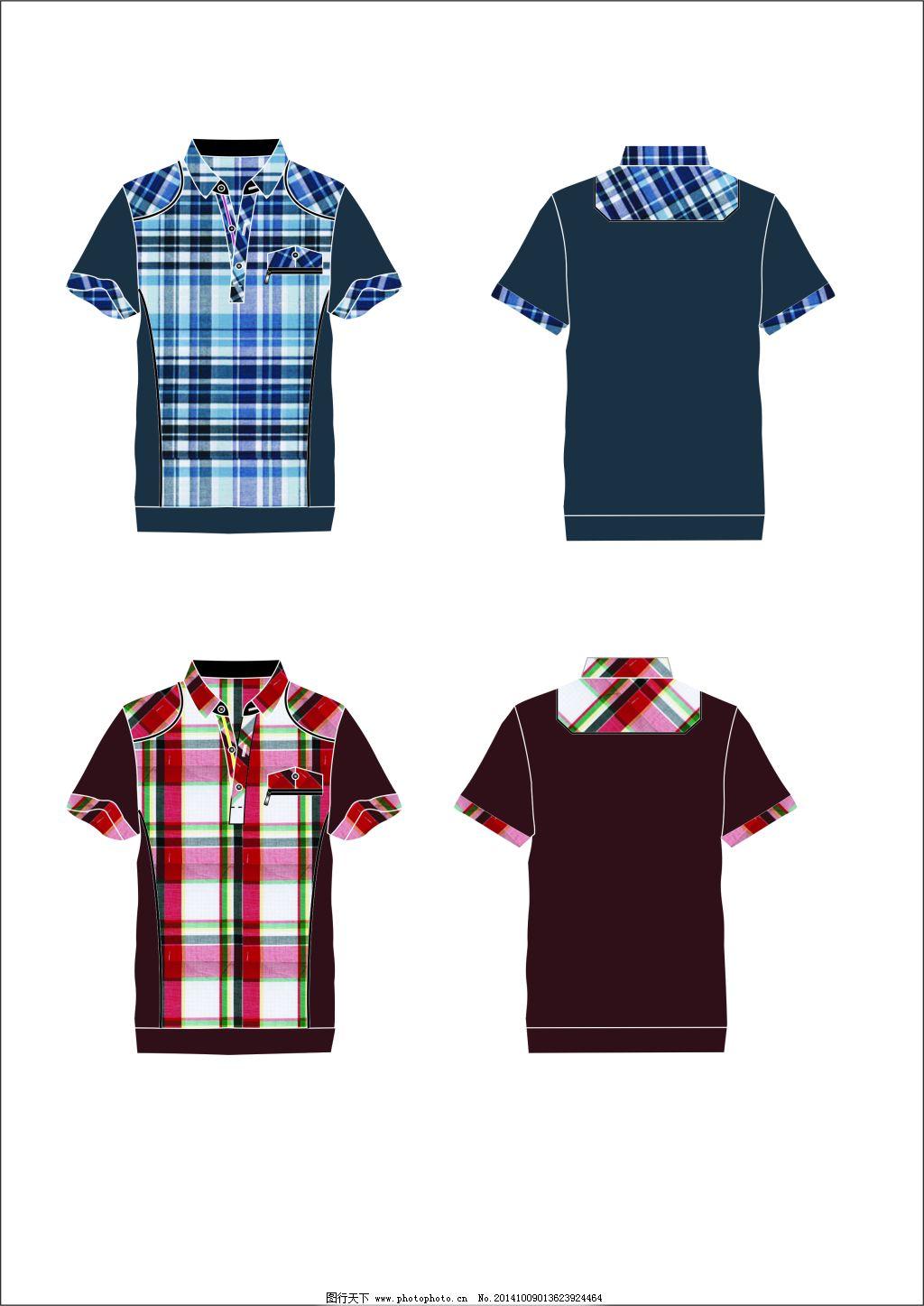 男夏季半袖t恤 短袖 服装款式图 服装效果图 服装设计稿 服装设计图