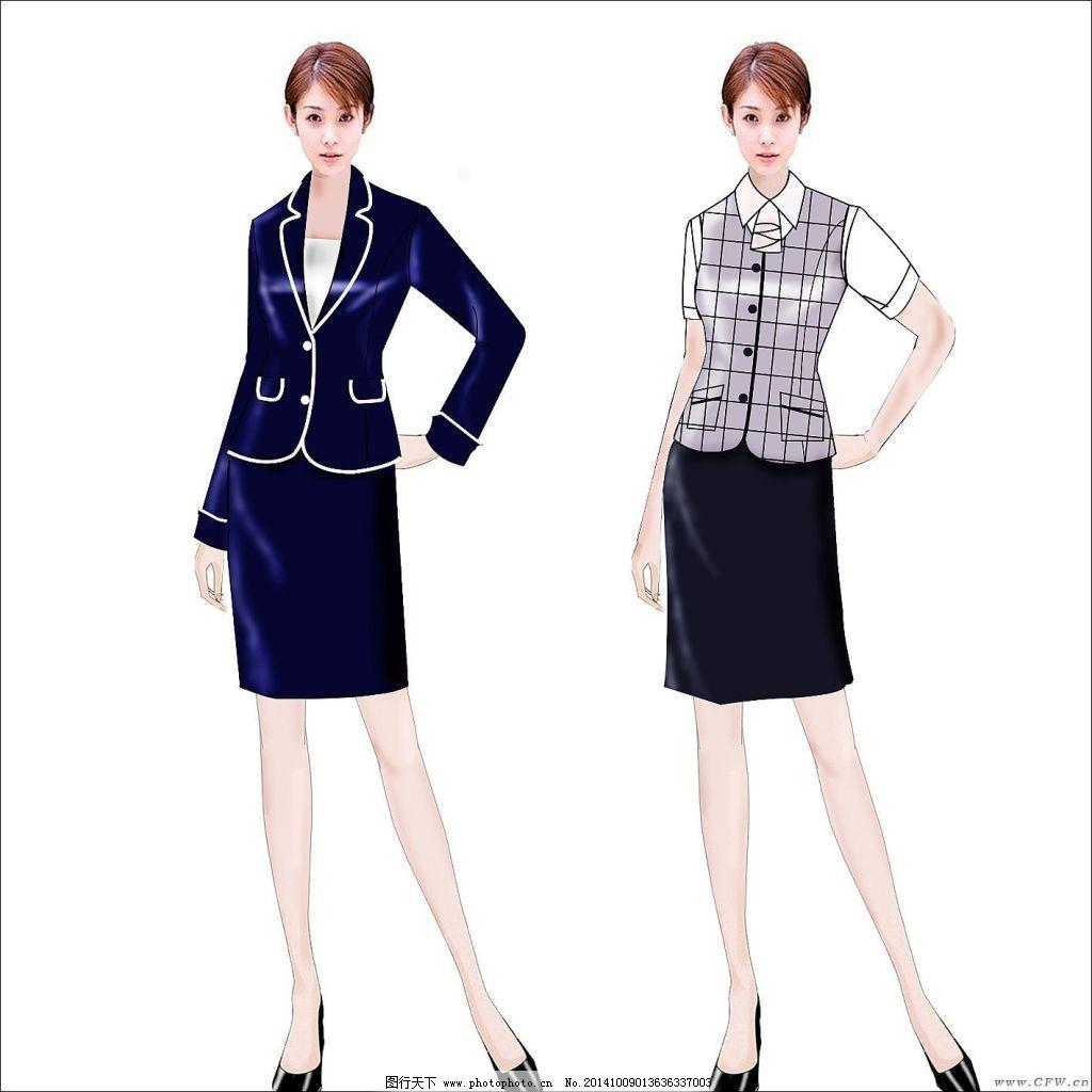女职业装,春与夏. 春与夏免费下载 服装款式图 服装效果图 服装设计图