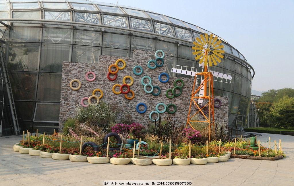 花坛 花儿 花草 植物 雕塑 造型 艺术 园林绿化 园林景观 绿化景观