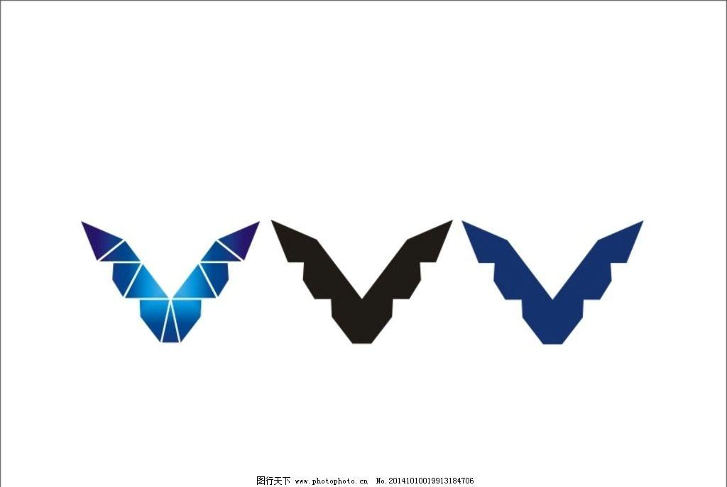 鹰抽象画-鹰 logo