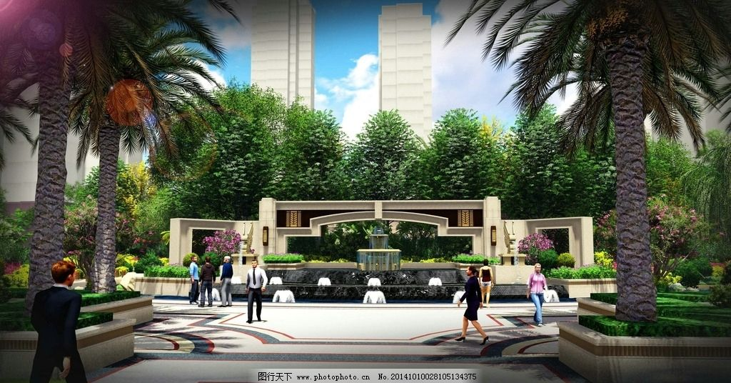 入口设计 朗恩景观设计 园林设计 深圳景观设计 景墙设计 欧式景观