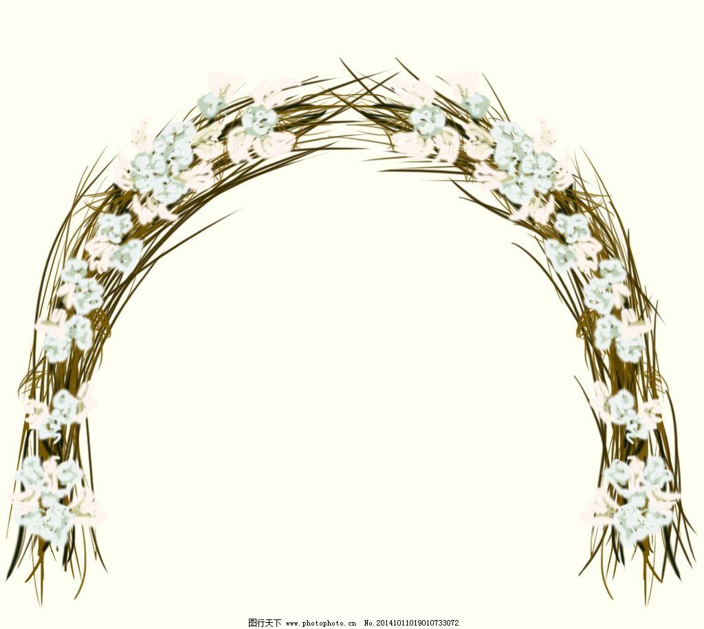 手绘花拱门图片