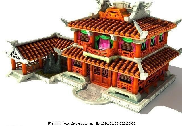 q版房子免费下载 3d 3d设计模型图片