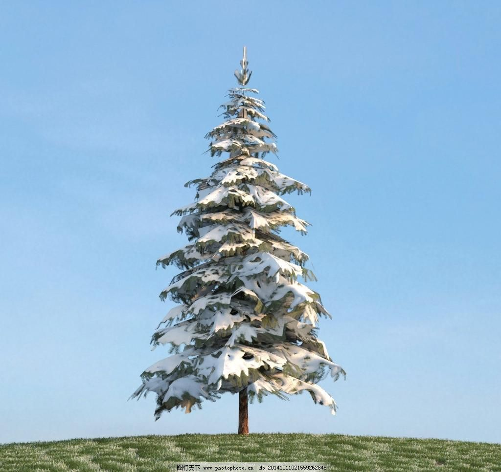 3d设计模型 max 材质 绿色树木 绿色植物 树 树木 松树 雪松 源文件