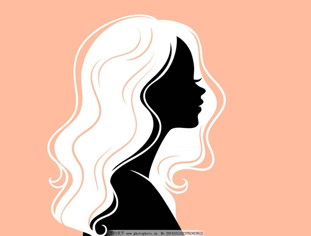 美女发型 手绘少女 头像 理发 女孩 女人 时尚美女 卡通女生