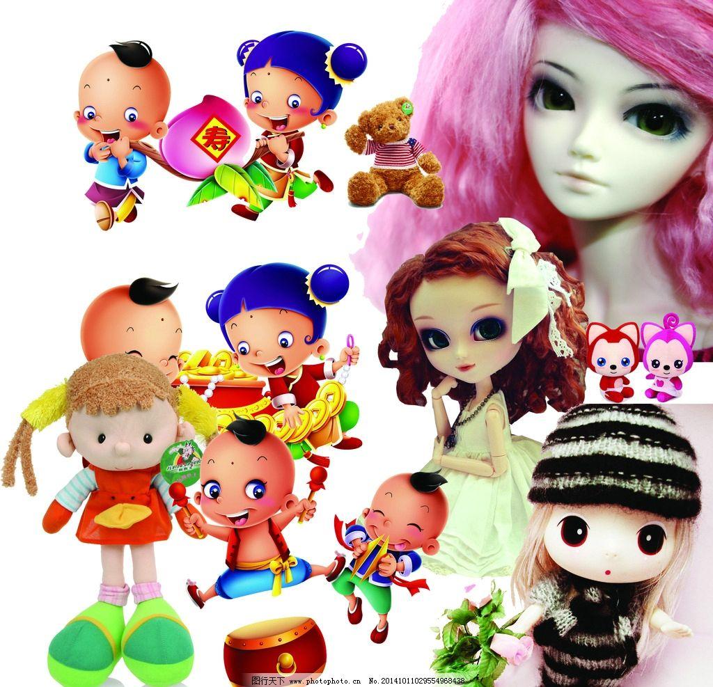 卡通人物 粉色大头娃 中国娃娃 婚纱小公主 娃娃 卡通人物 设计 广告