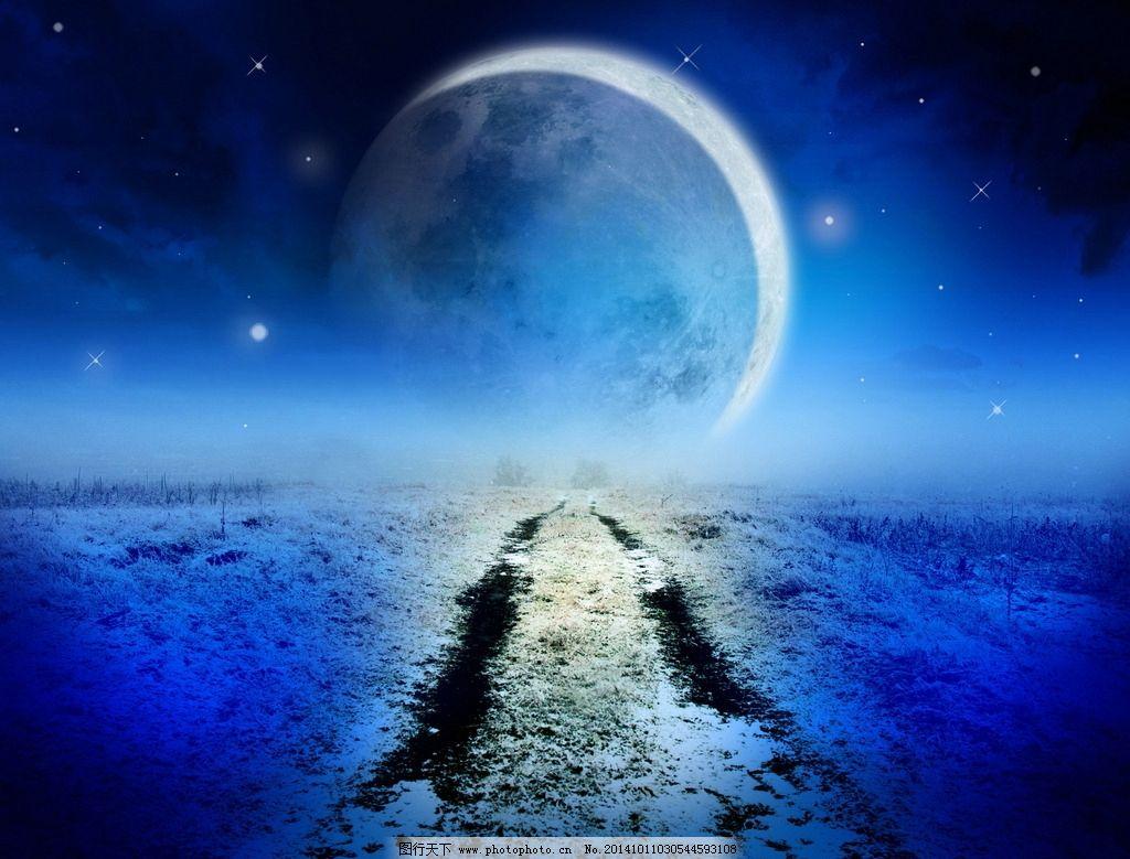 梦幻世界月亮图片,夜空 蓝色夜晚 天空 游戏 诡异-图图片