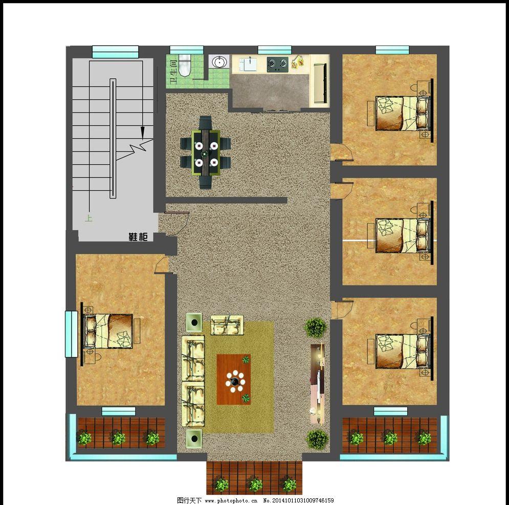 房屋平面图图片_其他_广告设计