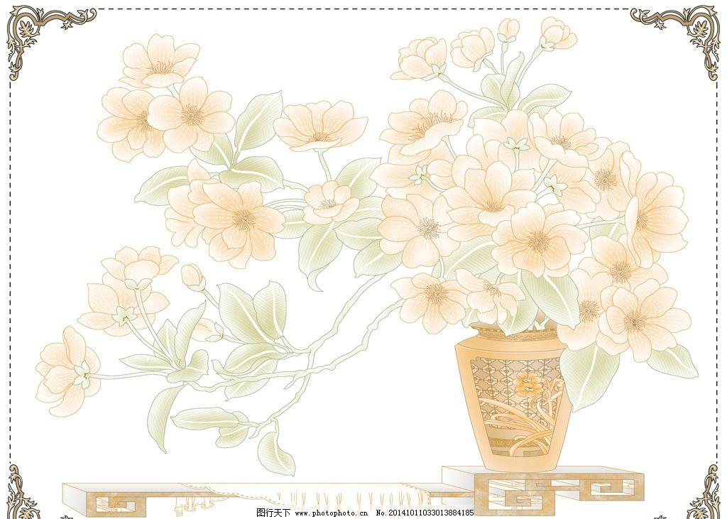 水粉画 花瓶