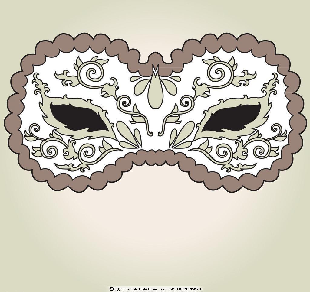 花纹 华丽 化妆舞会 皇冠 节日庆祝 狂欢节 脸谱 面具 威尼斯面具
