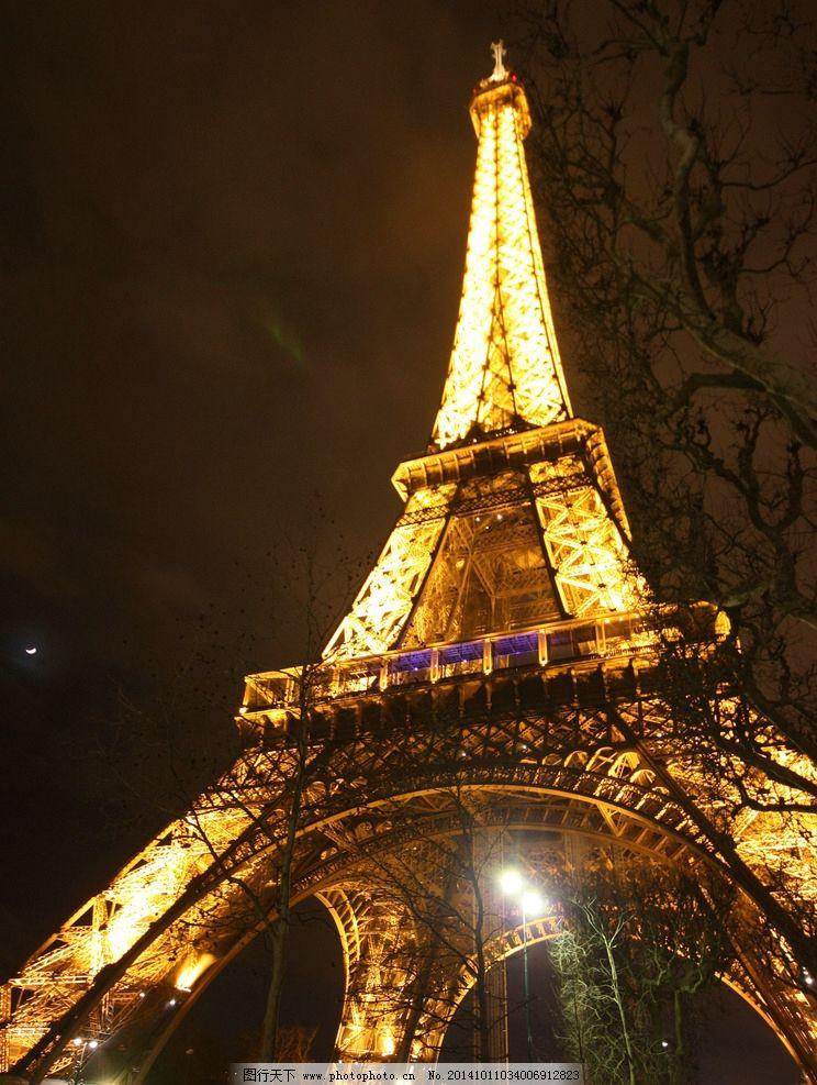法国埃菲尔铁塔夜景图片