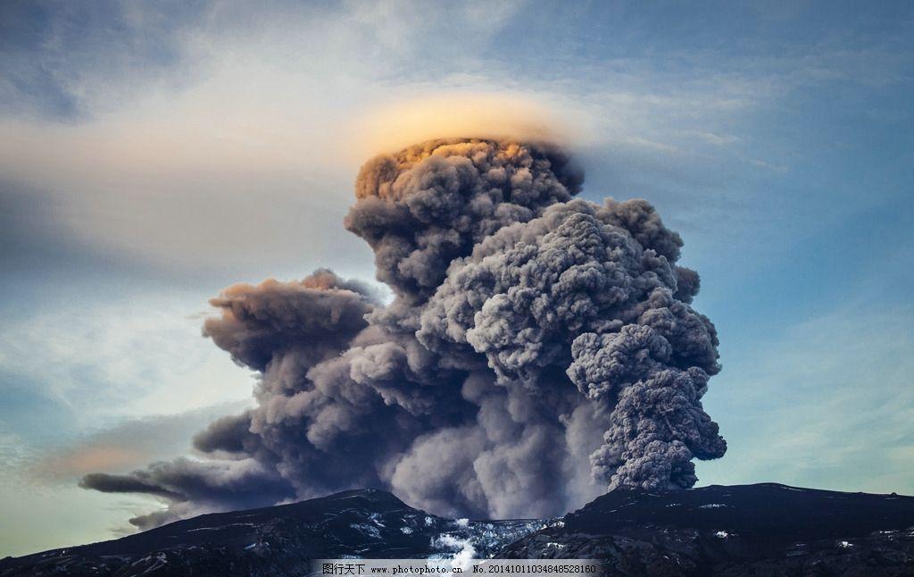 火山 火山灰 火山爆发 烟雾 自然风光  摄影 自然景观 自然风景 300dp