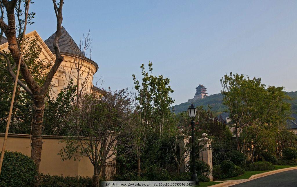 高端古典欧式独栋别墅图片,法式 高贵 建筑 干挂 石材