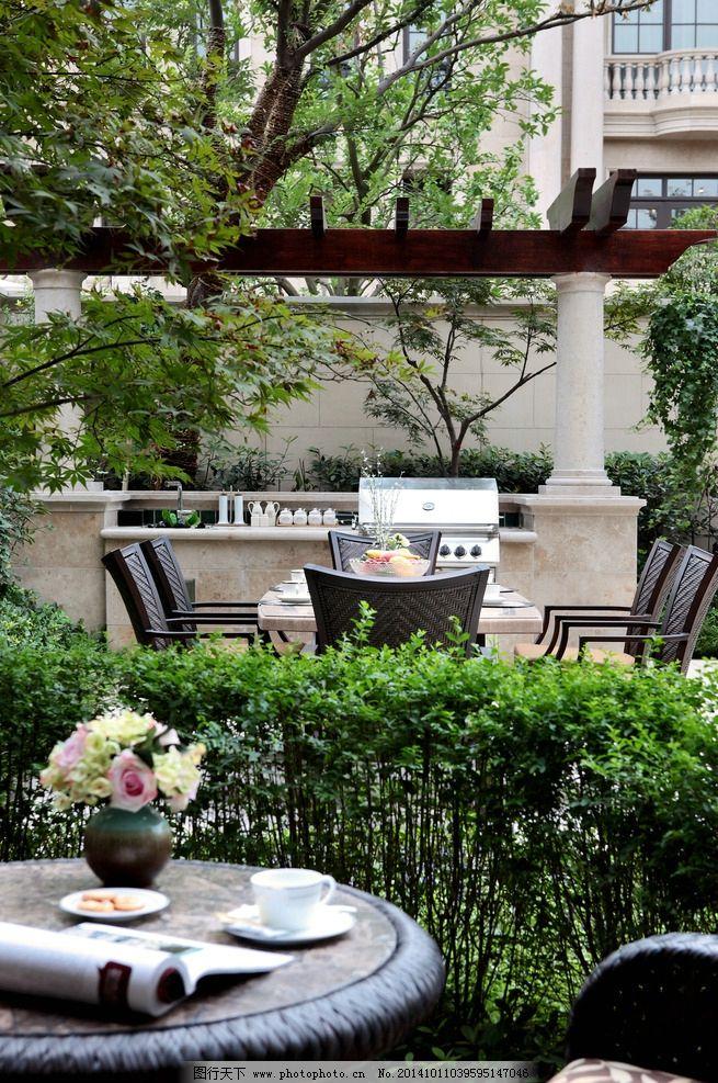高端古典欧式别墅庭院图片