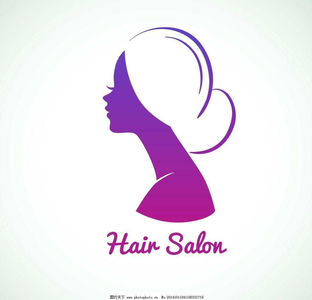 美女发型 头像 手绘少女 理发 女孩 女人 时尚美女 卡通女生