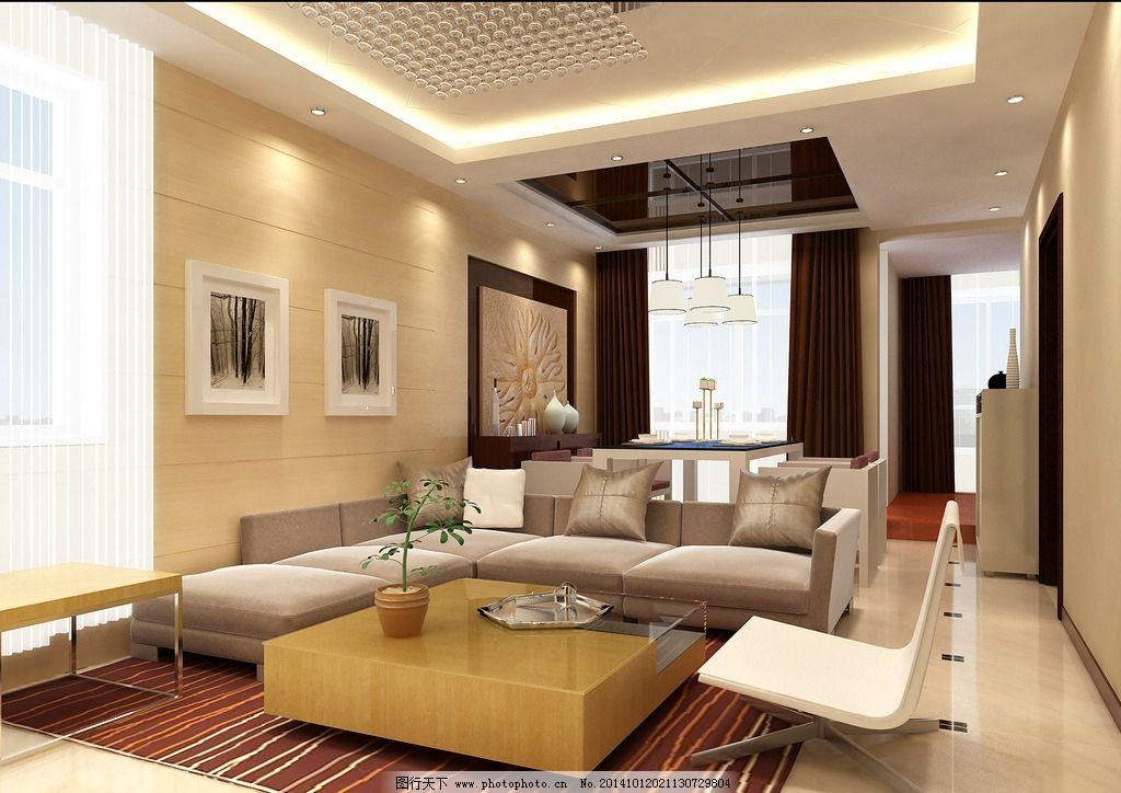 豪华客厅图片_3d作品设计
