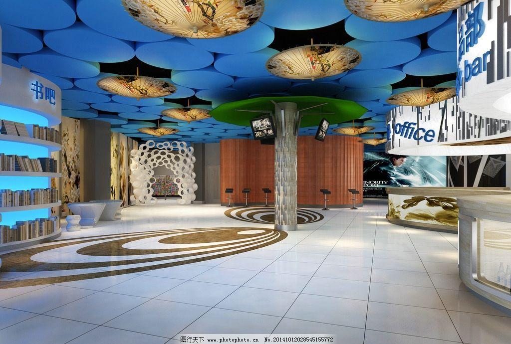大厅 室内 装潢 工装 家装 室内设计 建筑 酒店 渲染图 渲染图