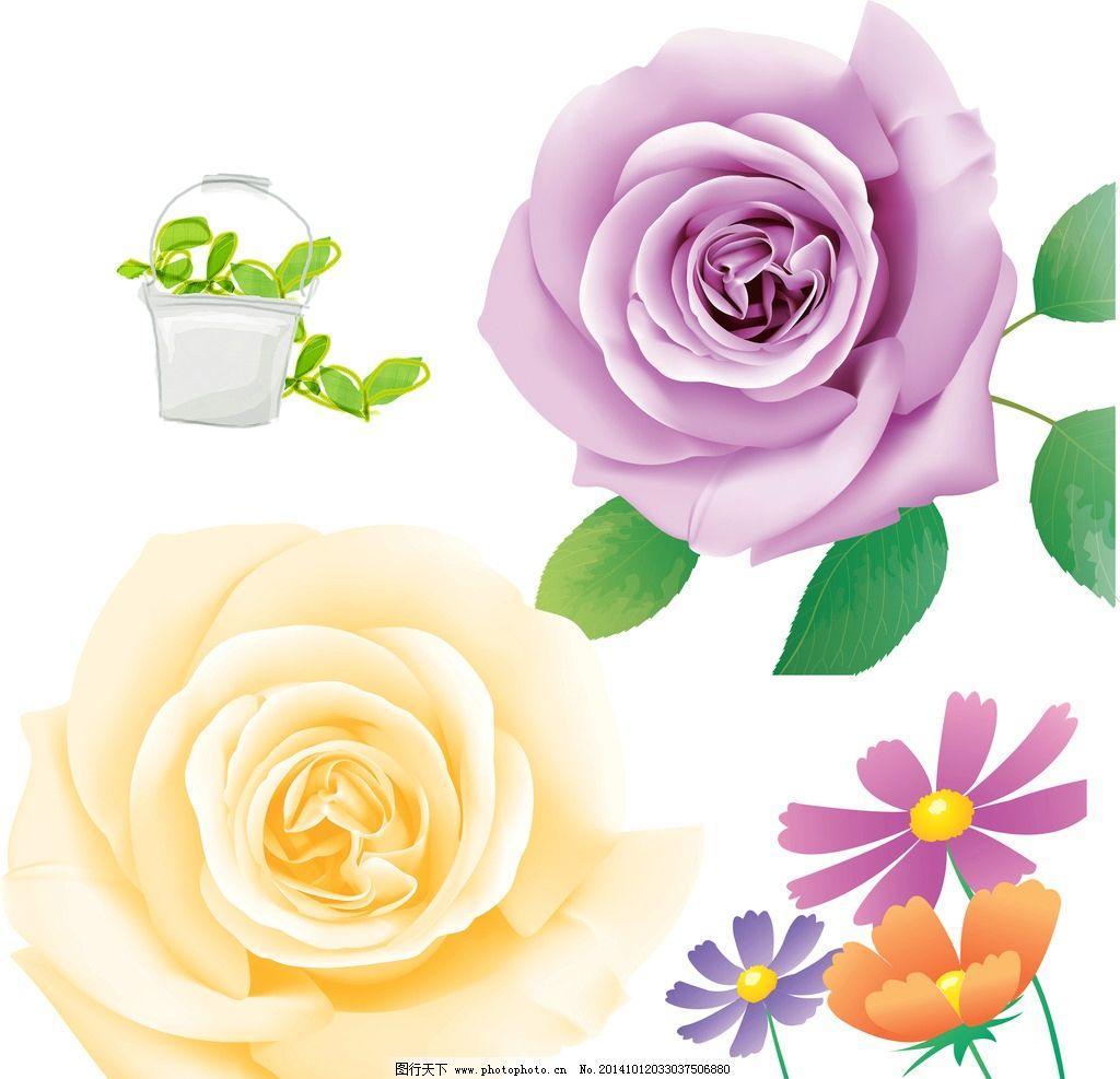 卡通手绘玫瑰花图片