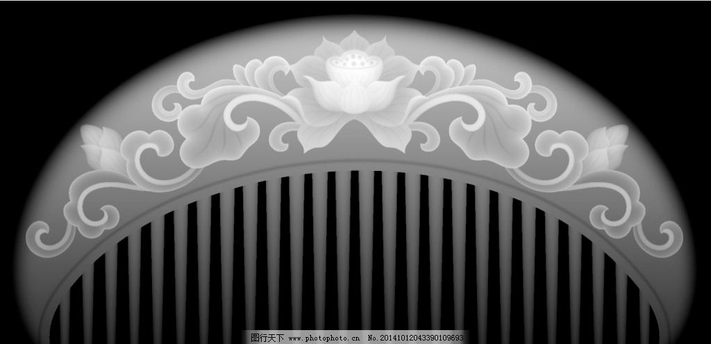 木雕 梳子 木梳 灰度图 浮雕 雕刻图案 设计 文化艺术 传统文化 200