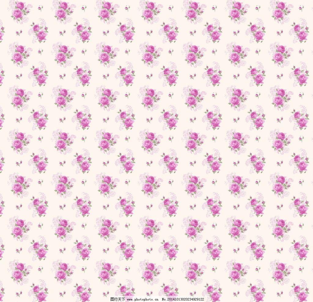 粉紫小碎花背景图片_背景底纹