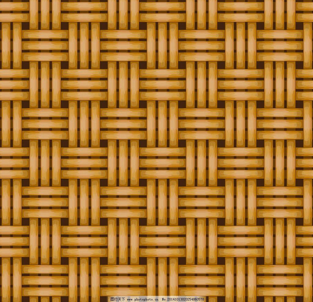 编织图案 竹条 篾条 席子 竹席 手绘图案 花纹图案 纹理 纹路