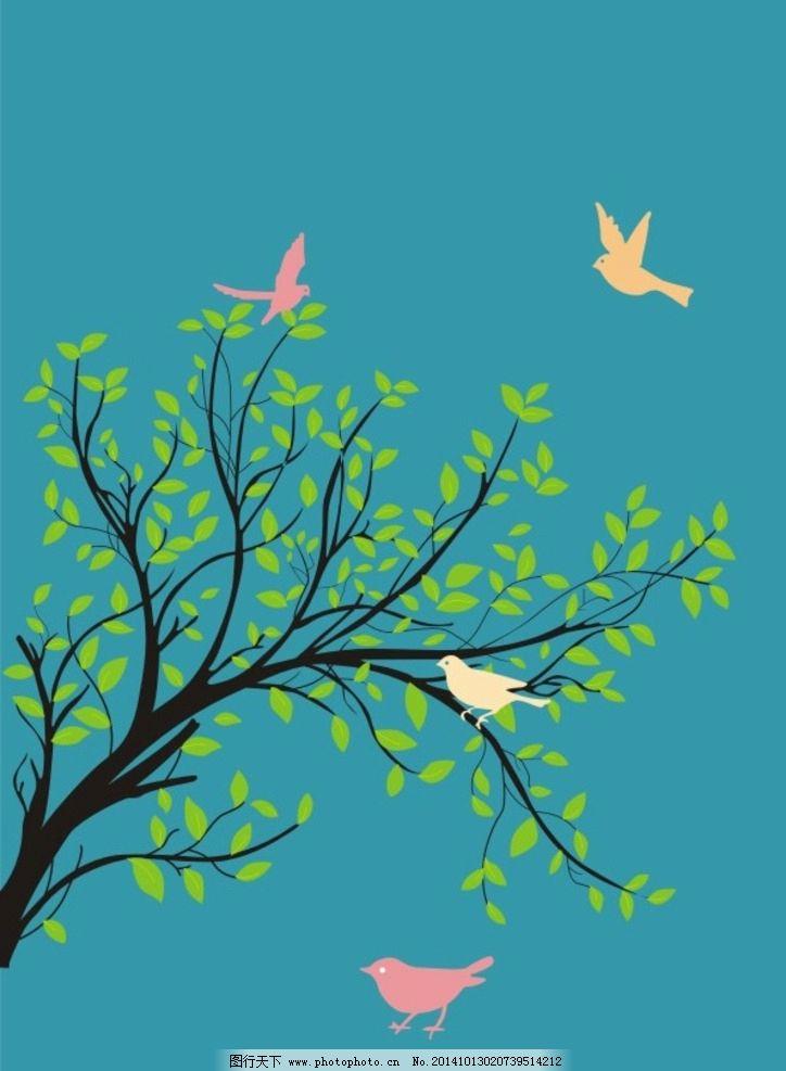 树枝与鸟图片