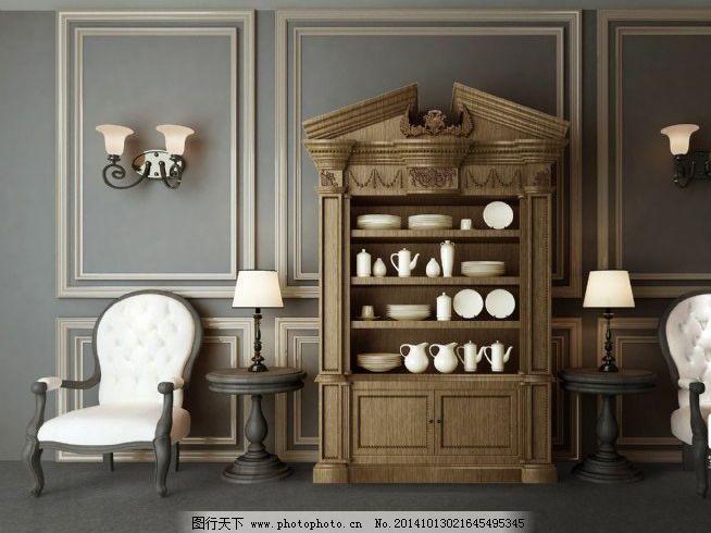 美式柜子免费下载 柜子 家具 美式 模型 椅子 模型 家具 柜子 美式