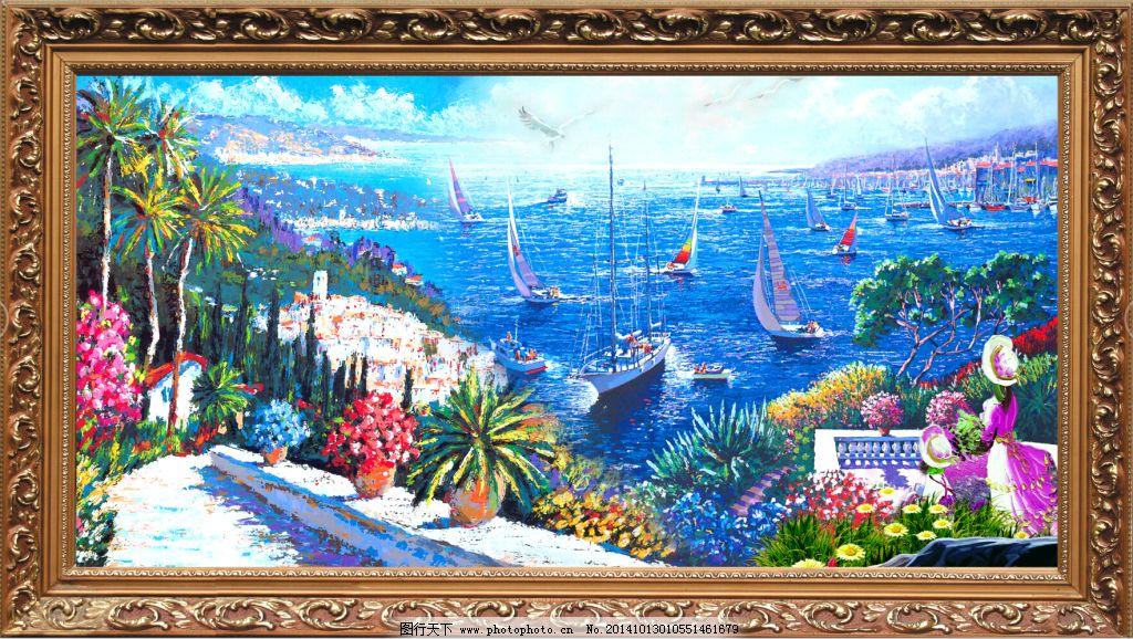 油画风景 油画艺术 油画风景 欧式油画 古典油画 装饰画 壁画 风景