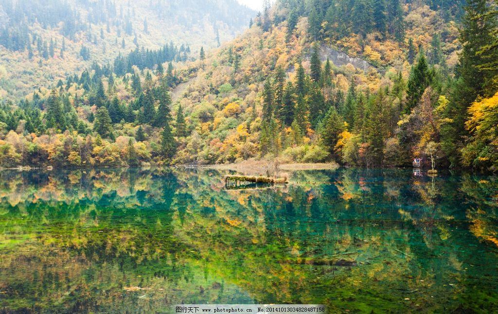 湖泊 湖面 蓝天 白云 森林 树林 风光 摄影
